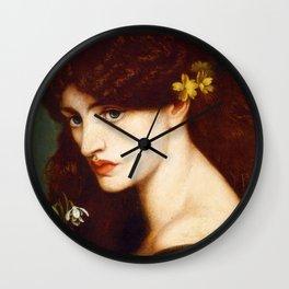 """Dante Gabriel Rossetti """"Blanzifiore (Snowdrops)"""" Wall Clock"""