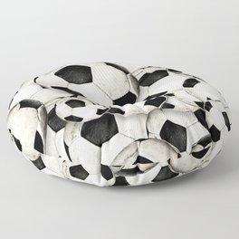 Dirty Balls - footballs Floor Pillow