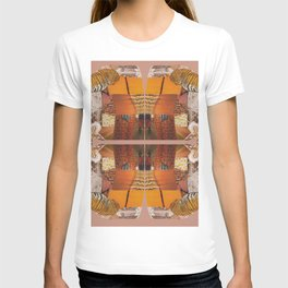 She's a tiger - a modern collage in orange T-shirt