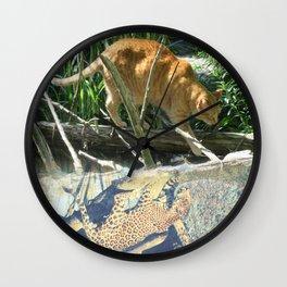Cat Tabby Panther Leopard Tree Rainforest Wall Clock