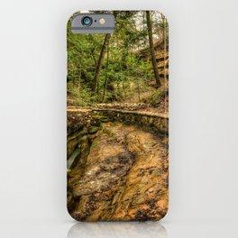 USA Devils Bathtub Old Mans Cave Hocking Hills State Park HDRI Nature Bridges HDR bridge iPhone Case