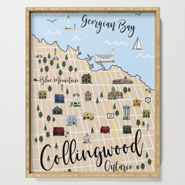 Map of Collingwood, Ontario Serving Tray