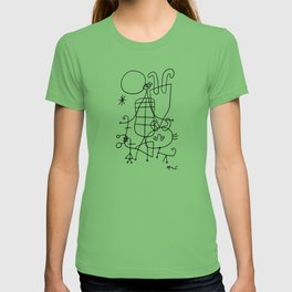 Joan Miro, Figures And Dog In Front Of The Sun, 1949 Sketch Artwork, Men, Women, Kids, Prints, Poste T-shirt