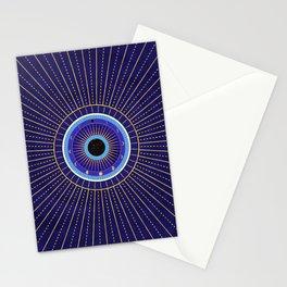 Cobalt Blue Evil Eye Mandala  with Moon Phases Stationery Cards