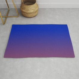 LAPIS BLUE & AMETHYST PURPLE color Ombre pattern  Rug