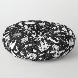High Seas Adventure // Black Floor Pillow