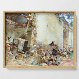John Singer Sargent - A Street in Arras - Digital Remastered Edition Serving Tray