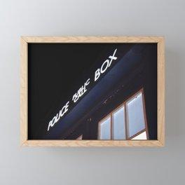 Police call box Framed Mini Art Print