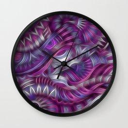 Midnight Aztec Swirls Wall Clock