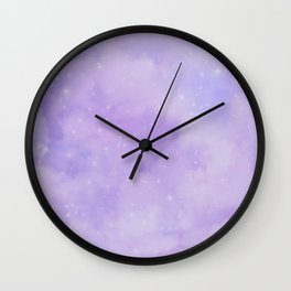 Pastel Cloulds Sky Seamless Nebula 126 Wall Clock