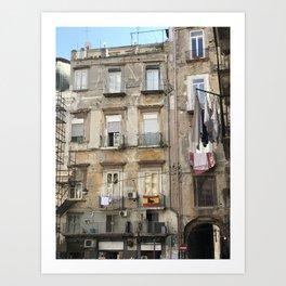 Apartments in Naples Art Print