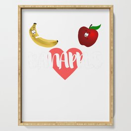 Apple Banana fruit fruit sweet vegan funny gift Serving Tray