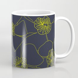 Blooms Everywhere Line Art No 04 Coffee Mug