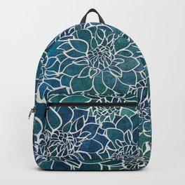 Dahlia Flower Pattern 9 Backpack