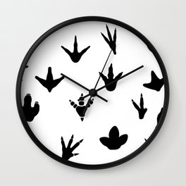 Dinosaur Footprints Wall Clock