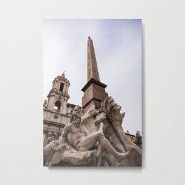 Fontana dei quattro fiumi - Ganges Metal Print