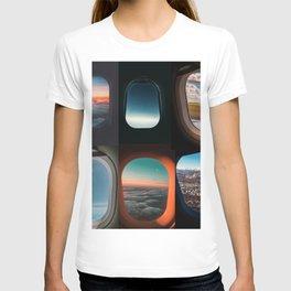 Aircraft windows T-shirt