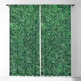 Green Grassy Texture // Real Grass Turf Textured Accent Photograph for Natural Earth Vibe Blackout Curtain