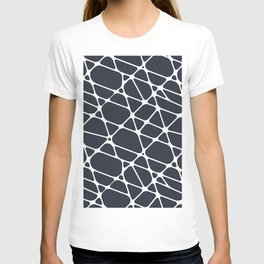 Dark Blue & White Abstract Mosaic Pattern 2 Pairs To 2020 Color of the Year Classic Navy Blue T-shirt