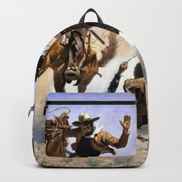 Frederic Remington - Aiding a Comrade - Digital Remastered Edition Backpack