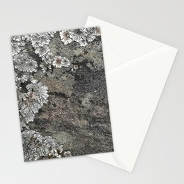 Lichen art on granite Stationery Cards
