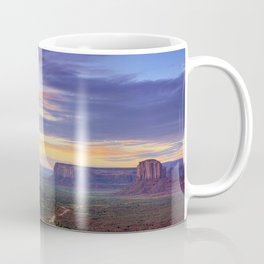 Mountains clouds landscapes dawn rocks mesas Coffee Mug