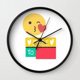 Free to Love Wall Clock