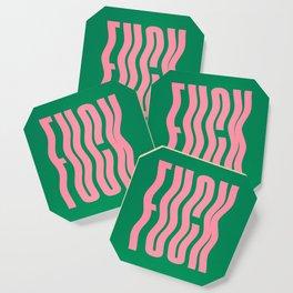 Favorite Word: Tropical Wavy Edition Coaster