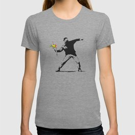 Love Is In The Air (Flower Thrower) - Banksy Graffiti T-shirt