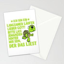 """""""Ich Bin Ein Langsamer Laufer Lieber Gott! Bitte Lass Jemanden Hinter Mir Sein, Der Das Liest"""" Stationery Cards"""