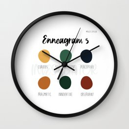 Enneagram 5 Wall Clock