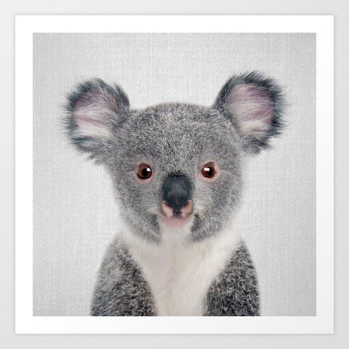 Baby Koala - Colorful Kunstdrucke