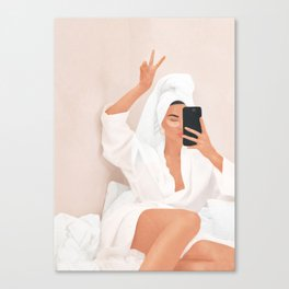 Morning Selfie Canvas Print