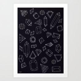 doodle crystals Art Print