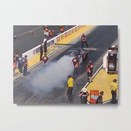 Smoking Rubber Metal Print