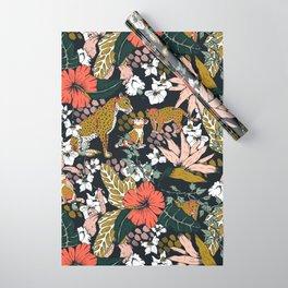 Animal print dark jungle Wrapping Paper