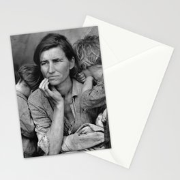 Migrant Mother Great Depression Stationery Cards