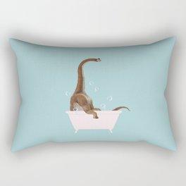 Brachiosaurus in Bathtub Rectangular Pillow