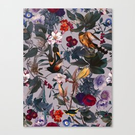 Floral and Birds XL Canvas Print