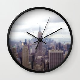 Bugs and Raindrops, Manhattan Skyline Wall Clock