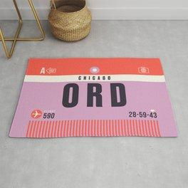 Baggage Tag A - ORD Chicago O'Hare USA Rug