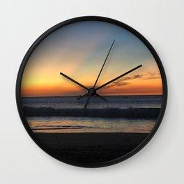Luminous Tropical Sundown  Wall Clock