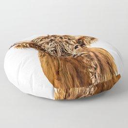 Cute Higland Cattle  Floor Pillow