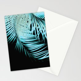 Palm Leaves Summer Night Vibes #1 #tropical #decor #art #society6 Stationery Cards