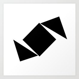 Abstract Modern Minimalist shapes Graphic Square triangles - balance Art Print