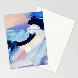 Bibbity Bobbity Blue (Abstract Painting) Stationery Cards