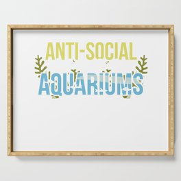 Aquarium Fish Tank Lover Funny Aquarist Gift Idea Serving Tray