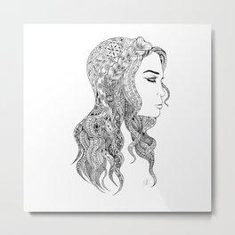 Women and girls 0003 Metal Print