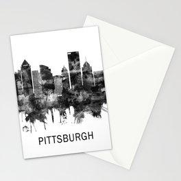 Pittsburgh Pennsylvania Skyline BW Stationery Cards