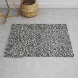 Elephant Print Texture - Grey Rug